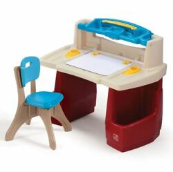 Art Studio Master Deck Table Set with Chair Kids Activity Play Deluxe Raised She