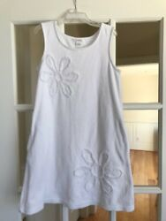 Girls Beach Coverup Size 10 White Terrycloth 2 pockets $12.99