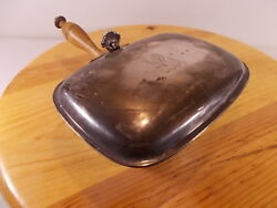 VINTAGE ANTIQUE SILVER PLATED ANTIQUE SILENT BUTLER CRUMB CATCHER