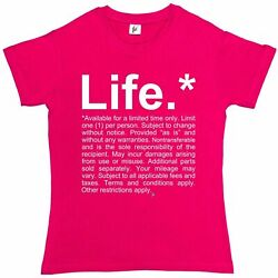 Disclaimer About Life Terms amp; Conditions Apply Womens Boyfriend Fit T Shirt GBP 6.99