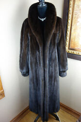 Excellent Vintage Plus 1x Female Mahogany Mink Fur Swing Jacket Coat 3532s