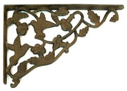 Set of 2 Hummingbird Solid Cast Iron Corner Braces Brackets Each 12-34