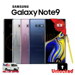 NEW Samsung Galaxy NOTE 9 (SM-N960U1 Factory Unlocked) GSM + CDMA - All Colors