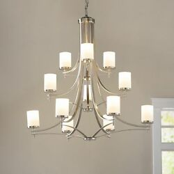 Durham 12-Light Shaded Rustic Chandelier farmhouse Cabin Lodge Decor