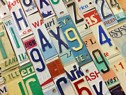 Raised Embossed License Plate Letters and Numbers for Signs and Arts and Crafts $2.99