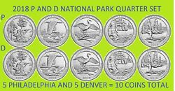 2018 P & D America the Beautiful National Park Quarter 10 Coin Set - ON HAND