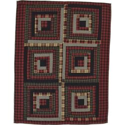 Red Rustic & Lodge Decor Shasta Cabin Throw Rod Pocket Cotton Patchwork