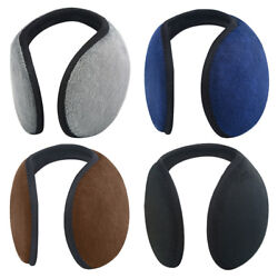 Unisex Women Men Ear Muffs Winter Ear Warmers Fleece Earwarmer Behind Head Band