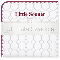 SwaddleDesigns Ultimate Swaddle Blanket Made in USA Premium Cotton Fl