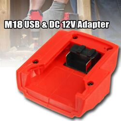 USB Charger Adapter For Milwaukee 49-24-2371 M18 DC12V Power Source Universal US