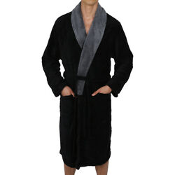 Mens Robe Bathrobe Coral Fleece Thick Very Soft amp; Warm USA SELLER Fast Ship $28.49