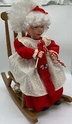 ANIMATED COLLECTION MRS CLAUS ROCKING CHAIR LARGE CHRISTMAS ANIMATED PEICE $100.00