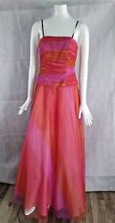 Delaru Orange Prom Dress sz 7 8 NWT $179 SAVED $114.00