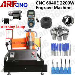 New Model CNC 6040E 2200W 4axis with linear guide for engraving stainless steel