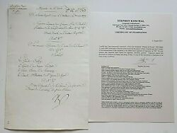 NAPOLEON BONAPARTE ORIGINAL SIGNED DOCUMENT ON THE DAY HE WAS WOUNDED 4-23-1809