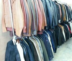 LARGE 100+ LotCollection of MEN'S Jackets  Coats Leather Denim - BRAND NAMES