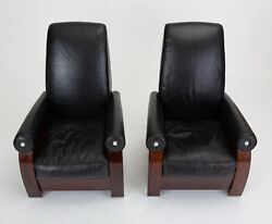 Pair James Rosen Fumo Club Chairs Pace Collection i4 Mariani Postmodern Vintage