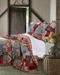 Rustic Cabin Comforter Set FullQueen Hunting Lodge Bedding Decor Coverlet Quilt