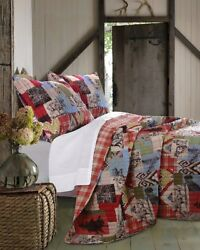 Rustic Lodge Comforter Set 3Pc King Bedding Decor Hunting Cabin Coverlet Quilt