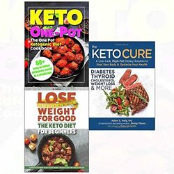 KETO CURE AND DIET FOR BEGINNERS AND ONE POT KETOGENIC COOKBOOK 3 By Adam NEW