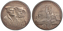 GERMANY WEIMAR REP. 1930 AR Medal PCGS SP64 Matte Augsburg Confession in Coburg