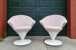 PrMCM Swivel Lounge Chairs by Adrian Pearsall for Craft Assoc Very Rare C60s