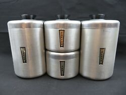 Vintage set of canisters by Kromex USA Mid Century Modern Design