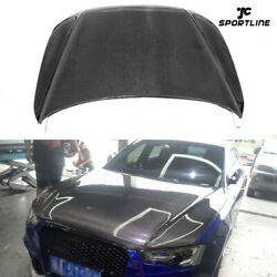 Fit for AUDI A5 S5 4Door 12-18 Auto Hood Covers Engine Hoods Lid Carbon Fiber