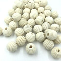 Natural Wooden Thread Spacer Beads Jewelry Making DIY Wood Bead 13*14mm