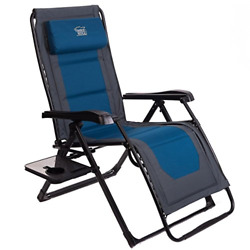 Timber Ridge Zero Gravity Patio Lounge Chair Oversize XL Padded Adjustable with