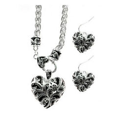 Brighton Beach   FILIGREE HEART NECKLACE SET