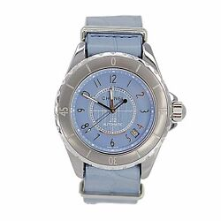 Chanel J12 Chromatic Ceramic G10 Automatic Light Blue Watch With Box and 2 Bands