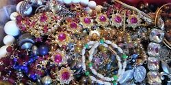 Vintage - Now Jewelry Lot 5 Pc Mix Wish Box NO Junk Necklace Brooch Resell Gift