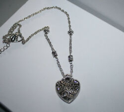 Brighton Beach   FILIGREE HEART NECKLACE