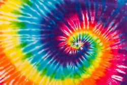 18 x 12 Tie Dye HTV Heat Transfer Printed Tshirt Craft Vinyl Sheet Swirl Hippie