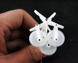 DIY Micro aerial vehicle Ornithopter Gear group reduction unit with 6mm motor $15.00
