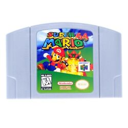 For Nintendo 64 Super Mario 64  Video Game Cartridge US Version from New York