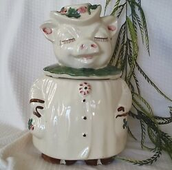Vintage Shawnee Cookie Jar ~ Winnie Pig ~ She's Charming ~ Remarkable Condition