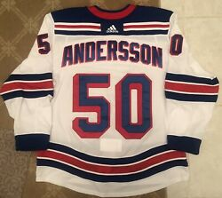 Lias Andersson Game Worn Jersey *Photo Matched* Rangers Steiner Used 1st Away GU