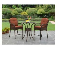 Bistro Set Azalea Ridge Balcony Patio Garden Outdoor Home Table Seat 3 Piece