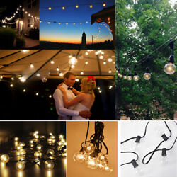 100FT 50FT 25FT G40 Outdoor String Lights Patio Globe Party Weddings Light Bulb