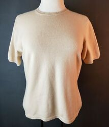 Nordstrom Studio 121 Size Small 100% Cashmere Tan Beige Sweater Shirt Top