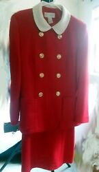 Scarlet Red Woman#x27;s skirt suits size 4 $69.99