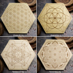 HSFY: Sacred Geometry Mini Crystal Grid Boards Your Choice of 4 Symbols $16.00