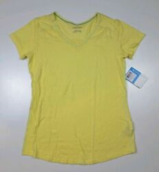 Columbia Women's Everything She Needs V Neck T Shirt  Yellow Size S