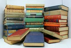 Lot of 10 Vintage Old Rare Antique Hardcover Books Mixed Color Random $29.95