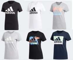 Adidas Badge of Sport Tees Womens Authentic Short Sleeve T Shirts XS to Large $19.99