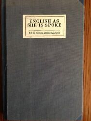 ENGLISH AS SHE IS SPOKE: NEW GUIDE OF CONVERSATION IN PORTUGUESE By Pedro VG