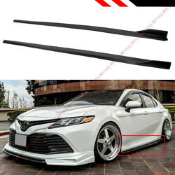 FOR 2018 2021 TOYOTA CAMRY LE SE XSE XLE JDM GT STYLE BLACK SIDE SKIRT EXTENSION $115.99
