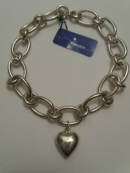ESPERANZA NEW Puffed Heart 0pen Links 17quot; Necklace Sterling Silver NWT. $257.00